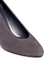 'Choke Up' block heel suede pumps
