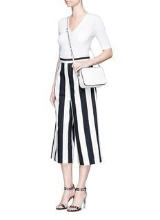MO&Co.Stripe wide leg Capri pants