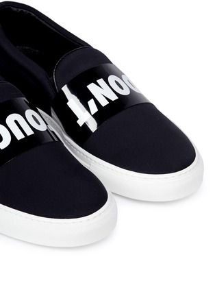 Detail View - Click To Enlarge - Joshua Sanders - 'Don't Touch' neoprene skate slip-ons