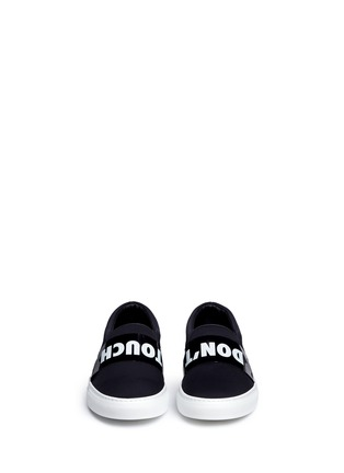 Front View - Click To Enlarge - Joshua Sanders - 'Don't Touch' neoprene skate slip-ons