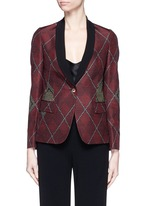 One of a kind argyle pattern silk jacquard blazer