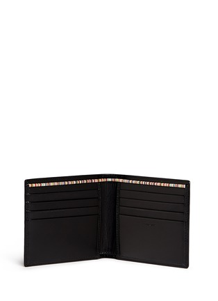 Figure View - Click To Enlarge - Paul Smith - Stripe print interior leather bifold wallet