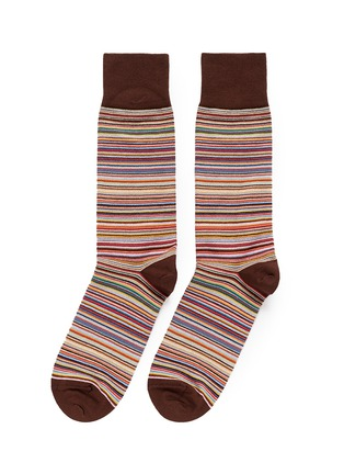 Main View - Click To Enlarge - Paul Smith - Multi stripe socks
