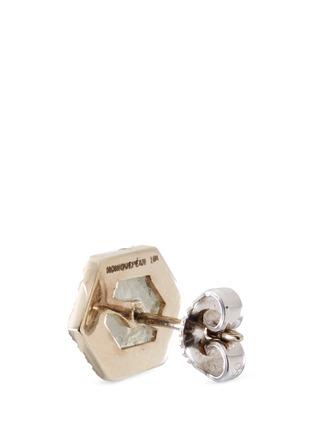Detail View - Click To Enlarge - Monique Péan - Diamond slice hexagon 18k white gold earrings