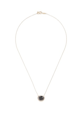 Main View - Click To Enlarge - Monique Péan - Black diamond pendant 18k recycled white gold necklace