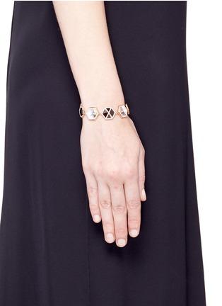 Monique Péan-Diamond 18k recycled rose gold precious stone bracelet