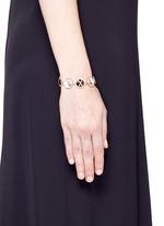 Diamond 18k recycled rose gold precious stone bracelet