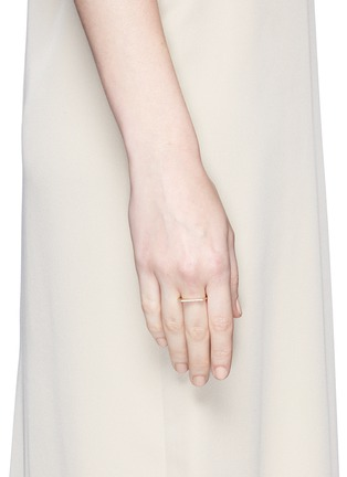 Figure View - Click To Enlarge - Monique Péan - Diamond 18k recycled yellow gold geometric stacking ring