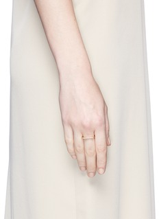 Monique Péan Diamond 18k recycled yellow gold geometric stacking ring