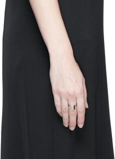 Monique Péan Diamond Guatemalan jade 18k recycled white gold open ring