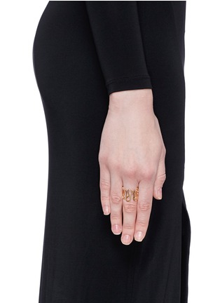 Figure View - Click To Enlarge - REPOSSI - 'White Noise' 18k rose gold ring