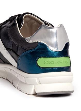 细节 - 点击放大 - DOLCE & GABBANA - 拼接多彩运动鞋
