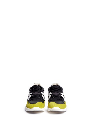 模特儿示范图 - 点击放大 - DOLCE & GABBANA - 拼接多彩运动鞋