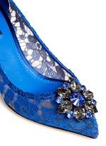 'Bellucci' jewel brooch lace pumps