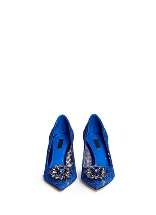 Dolce & Gabbana-'Bellucci' jewel brooch lace pumps