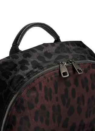 细节 - 点击放大 - DOLCE & GABBANA - 拼色豹纹尼龙双肩背包