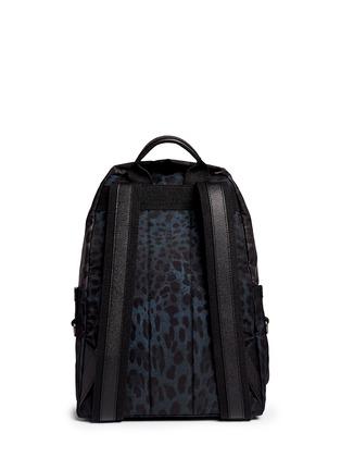背面 - 点击放大 - DOLCE & GABBANA - 拼色豹纹尼龙双肩背包