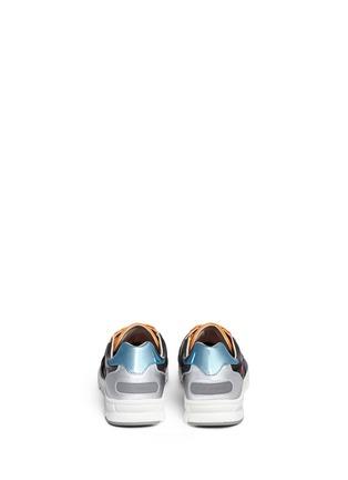背面 - 点击放大 - DOLCE & GABBANA - 真皮拼接球鞋