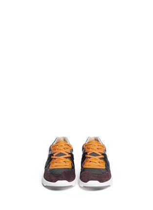 模特儿示范图 - 点击放大 - DOLCE & GABBANA - 真皮拼接球鞋