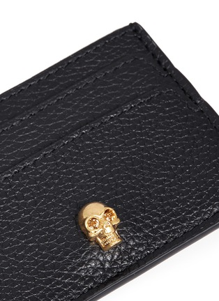 Detail View - Click To Enlarge - Alexander McQueen - Skull leather card holder