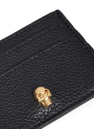 Alexander McQueen-Skull leather card holder
