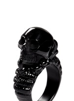 Claw and skull ring