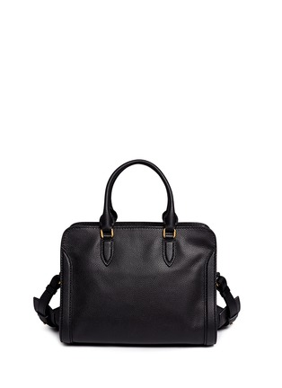 Back View - Click To Enlarge - Alexander McQueen - 'Padlock' contrast pocket leather tote