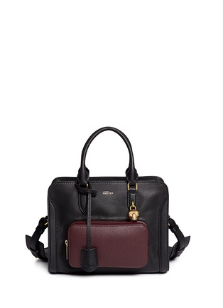 Main View - Click To Enlarge - Alexander McQueen - 'Padlock' contrast pocket leather tote