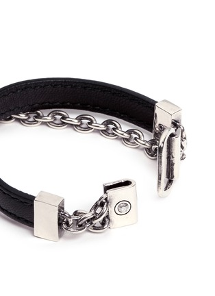 Detail View - Click To Enlarge - Alexander McQueen - Harness skull leather bracelet