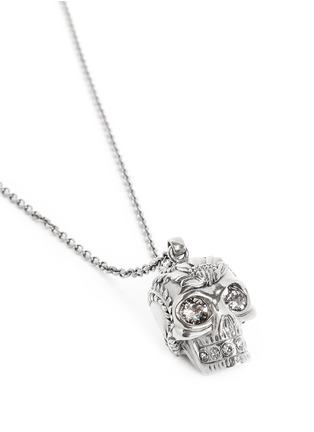 Detail View - Click To Enlarge - Alexander McQueen - Poppy skull pendant necklace
