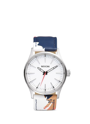 Main View - Click To Enlarge - Nixon - 'The Sentry 38 Leather' watch
