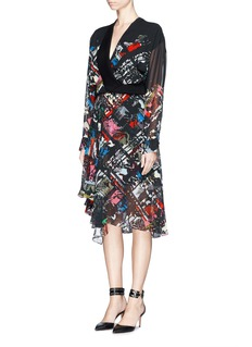 PREEN BY THORNTON BREGAZZI'Albermarle' floral print silk georgette dress