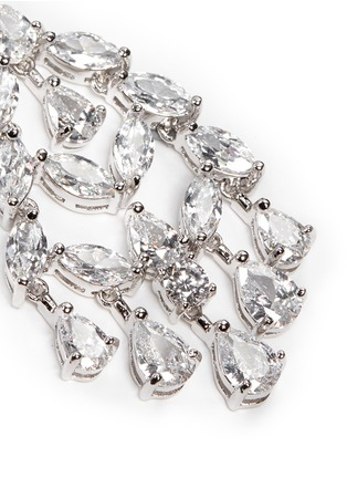 Detail View - Click To Enlarge - CZ by Kenneth Jay Lane - Marquise cut cubic zirconia fan drop earrings