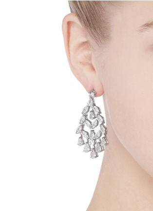 Figure View - Click To Enlarge - CZ by Kenneth Jay Lane - Marquise cut cubic zirconia fan drop earrings