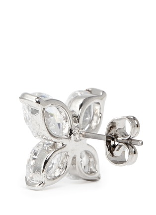 Detail View - Click To Enlarge - CZ by Kenneth Jay Lane - Lily cut cubic zirconia earrings