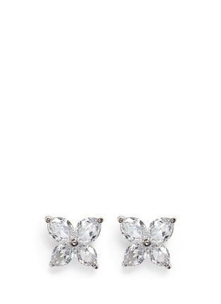 Main View - Click To Enlarge - CZ by Kenneth Jay Lane - Lily cut cubic zirconia earrings
