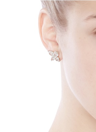 Figure View - Click To Enlarge - CZ by Kenneth Jay Lane - Lily cut cubic zirconia earrings
