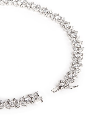 Detail View - Click To Enlarge - CZ by Kenneth Jay Lane - Navette cut cubic zirconia necklace
