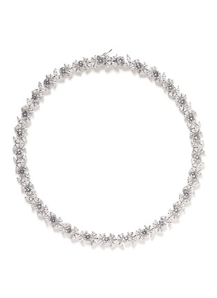 Main View - Click To Enlarge - CZ by Kenneth Jay Lane - Navette cut cubic zirconia necklace