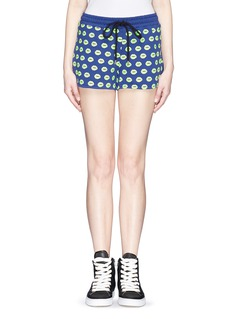 MARKUS LUPFER 'Smacker Lip' print sweat shorts
