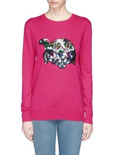 MARKUS LUPFER'Tribal Turtle Ember' sequin Natalie sweater