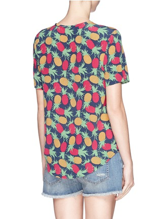 Back View - Click To Enlarge - Equipment - 'Riley' pineapple print T-shirt