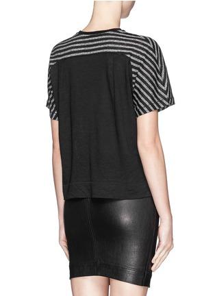 Back View - Click To Enlarge - rag & bone/JEAN - 'Robin' stripe cotton-linen T-shirt