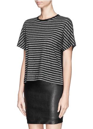 Front View - Click To Enlarge - rag & bone/JEAN - 'Robin' stripe cotton-linen T-shirt