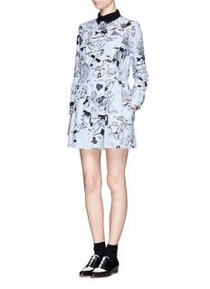 CARVENStripe illustration print dress