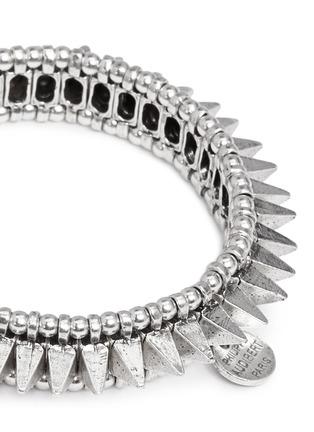 Detail View - Click To Enlarge - Philippe Audibert - Spike elasticated bracelet