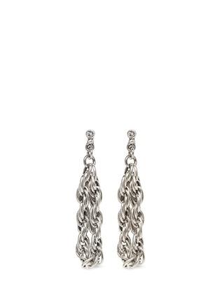 Main View - Click To Enlarge - Philippe Audibert - Dangle chain hoop earrings