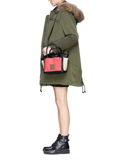 SEE BY CHLOÉ'Nellie' small colourblock leather tote