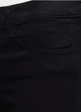 Detail View - Click To Enlarge - J Brand - 'Ankle Crop' stretch sateen pants