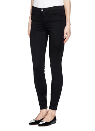 Front View - Click To Enlarge - J Brand - 'Ankle Crop' stretch sateen pants